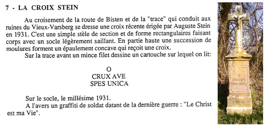 Croix stein